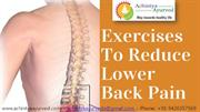 Exercises for Lower Back Pain Relief