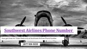 Now get Great Air Ticket Deals only at Southwest Airlines Phone Number