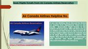 Book Flights Tickets Air Canada Airlines Reservation
