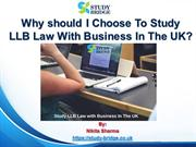 Why should I choose to study LLB Law with Business in the UK