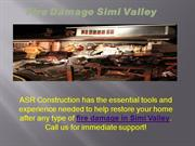 Fire Damage Simi Valley