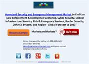 Homeland Security and Emergency Management Market: