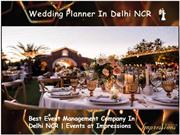 Wedding Planner in Delhi NCR