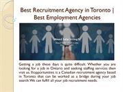 Best Recruitment Agency in Toronto | Best Employment Agencies
