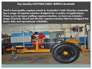 Top Quality CAPSTAN CABLE WINCH Australia