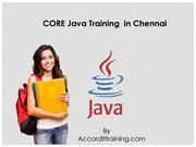 Core Java Training  in Chennai