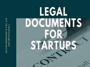 Legal Documents For Startups