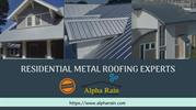 Metal Roof Installation | Residential Metal Roofing | Alpha Rain
