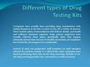 Different types of Drug Testing Kits