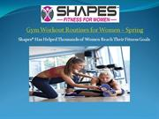 Gym Workout Routines for Women in Spring
