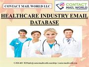 HEALTHCARE INDUSTRY EMAIL DATABASE