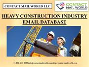 HEAVY CONSTRUCTION INDUSTRY EMAIL DATABASE