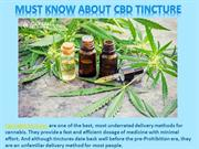 Must Know About CBD Tincture