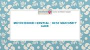 Best Maternity Centres in Bangalore