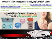 Invisible Ink Contact Lenses Playing Cards in Delhi