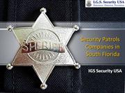 Security Patrols Companies in South Florida