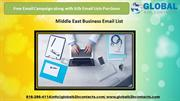 Middle East Business Email List