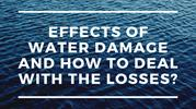 Effects of Water Damage and How to Deal with the Losses