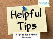 7 Tips to Buy a Perfect Mattress   Nubliss