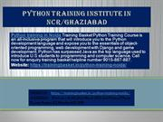 Python Training Institute In NCR