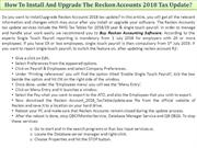 How To Install And Upgrade The Reckon Accounts 2018 Tax Update