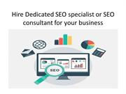 Hire Dedicated SEO specialist or SEO consultant for your business