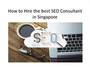 How to Hire the best SEO Consultant in Singapore