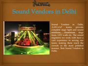 Sound Vendors in Delhi | Best Sound Vendors in Delhi