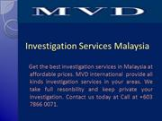 Investigation Services Malaysia
