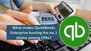 What makes QuickBooks Enterprise hosting the no.1 choice among CPAs