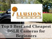 Top 5 Best and Cheapest DSLR Cameras for Beginners