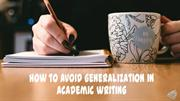 How to avoid generalization when writing