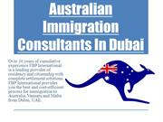 Australian Immigration Consultants In Dubai