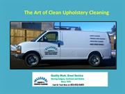 The Art of Clean Upholstery Cleaning