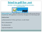 html to pdf for