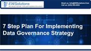 7 Step Plan For Implementing Data Governance Strategy