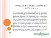 Popular Sympathy Flowers for Funerals