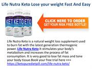 Life Nutra Keto Lose your weight Fast And Easy