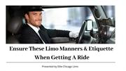 Ensure These Limo Manners & Etiquettes When Getting A Ride