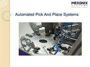 Automated Pick And Place Systems