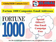 Fortune 1000 Companies Email Addresses