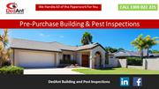 Pre-Purchase Building & Pest Inspections