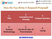 How do you write a research proposal?