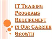 Security Awareness Program on IT Training Programs
