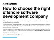 How to choose the right offshore software development company