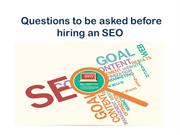 Questions to be asked before hiring an SEO