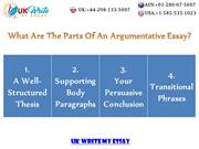 What Are The Parts Of An Argumentative Essay?