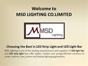 LED light bar and LED strip light