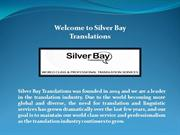 Silver Bay Translations, General Translation Services New Jersey