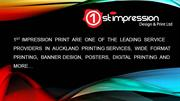 Auckland Printing Services | 1st Impression Design and Print